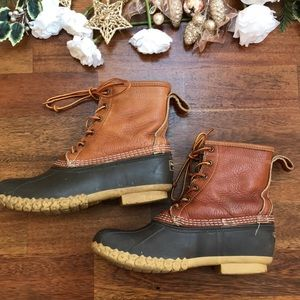 LL Bean Bean Boots Fur Lined Great Condition 9W